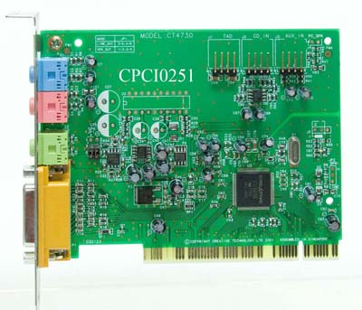Creative ct4730 sound card