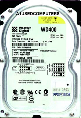 Western Digital Caviar WD400JB 40Gb IDE Black
