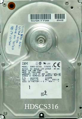 IBM 46H6048 / DORS-32160 2.1Gb 68pin SCSI II