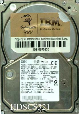 IBM DDRS-34560 00K4150  4.5Gb 68pin SCSI SE