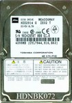 Toshiba HDD2914 4.1Gb 9mm Notebook Hard Drive
