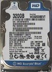 320Gb WD Scorpio Blue WD3200BEVT-22ZCT0 5.4k
