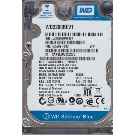320Gb WD Scorpio Blue WD3200BEVT-60ZCT1 5.4k